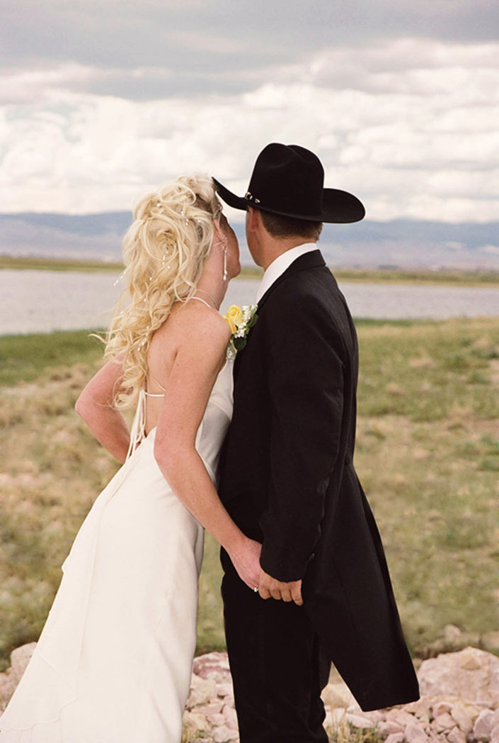 laramie western wedding photograph